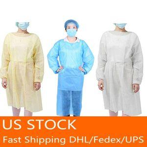 Isolamento Protezione Gown monouso Protective Clothing antipolvere tuta per le donne gli uomini impermeabile anti-fog Suit antiparticella In magazzino
