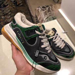 pattini del progettista di lusso a scarpe da ginnastica serie Ultrapace maschili e femminili tripla S di cuoio della piattaforma delle donne ricamato comode scarpe da jogging