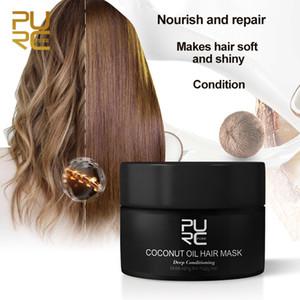 Purc 50ml aceite de coco mascarilla para el cabello repara el daño restaura el cabello suave bueno o todos los tipos de queratina tratamient
