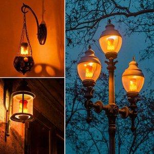1pc della lampada LED Fiamma 3 Mode + sensore di gravità luce di notte 85-265V LED Fiamma Effetto del fuoco la lampadina della decorazione di Halloween di Natale