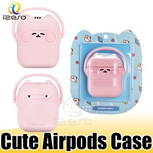 For Airpods Case Washable Liquid Silicone Protector Cover for Apple Airpod 2 Earphone Cute Cat for AirPod Cases with Retail Box izeso