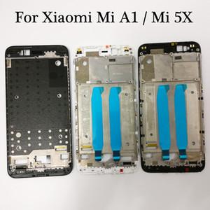 Siyah / Beyaz Için Xiaomi Mi A1 Mi 5X MIA1 Mi5X Ön Konut Şasi Plaka LCD Ekran Çerçeve Faceplate Çerçeve (Yok LCD)