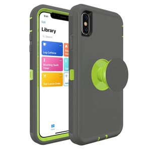 Air Cushion Holder Back Armor Cases For iPhone X XR XS MAX 8 7 6 Plus N10 2019 Hot Selling Mobile Phone Cases