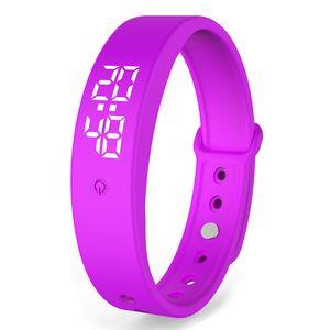 V9 TW6 inteligente pulsera podómetro del sueño Monitor de USB a prueba de agua Deportes Muñequera de carga de fitness Niños Rastreador inteligente Banda