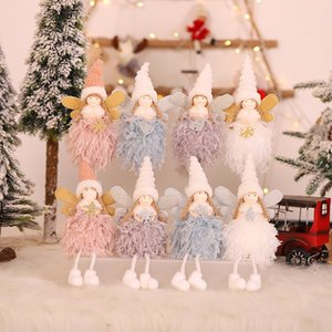 2020 Natale Piccola Girl Doll Decorazione albero di Natale peluche Angel Doll pendenti moda 8 stili Elf Pendenti