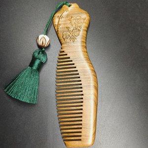 klassisches Holzkamm bouquite Geschenk