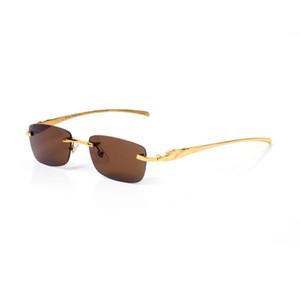 progettista degli occhiali da vista da uomo occhiali da sole moda degli occhiali da sole donne di marca del progettista occhiali cornice in oro massiccio