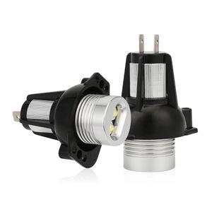 Car LED Headlights Angel Eye 12V 6000K Halo Ring Lamp Bulbs for BMW E90 E91 05-08