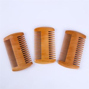 Pocket legno pettine su due lati ultra sottile pettine salute massaggio stretta mogano antistatico può essere personalizzato logo sz150