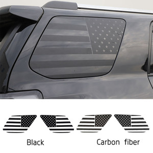 Banderas de la ventana posterior del coche pegatina pegatinas para Toyota 4Runner 2017+ enchufe de fábrica de coches que labra los accesorios del exterior