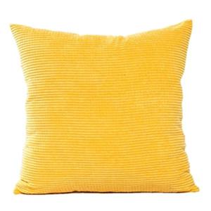Funda de almohada 1pc suave pana Cojín Almohada Throw Caja de las pastillas núcleos de Ministerio del Interior Bar decorativo amarillo cuadrado