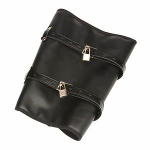 bdsm play leg binder restraints bondage gear women training calf cuffs adult sex toys faux leather XCX554