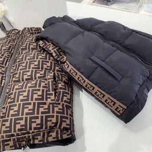 doppelseitige Jacke Herbst-Winter-Mädchen-beiläufige Weste Kinder Oberbekleidung Mäntel für Jungs Weste Säuglingsbaby-Down Vest Ärmel Kinder Warme Jacke