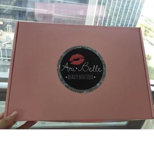 100pcs Custom Logo papel ondulado envio mailer caixas de cor-de-rosa para o vestido de embalagem e cabelo perucas caixa de presente