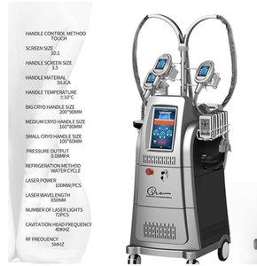 Fett reduzieren 7 in 1 Fett freeze 4 Kryo Griff Fett Einfrieren kühl cryolipolysis Maschine Vakuum abnehmen Lipo Laser Ultraschall RF Schönheit Maschine