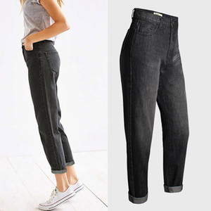Fashion-New Arrival Women's Luxury Designer Jeans Ladies Relax Straight Jeans Women High Waisted Denim Pants Fashion Stretch Harem Jeans