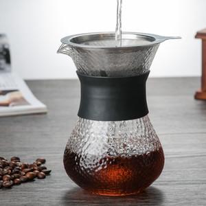400ML Hand-Brewed Coffee Pots High Borosilicate Glass Espresso Water Drip Coffee Maker Reusable Tea Filter Tool Coffee ware