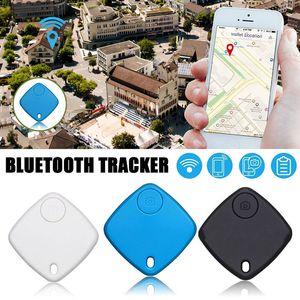 Localizador Mini alarma perdida anti Monedero KeyFinder etiqueta inteligente Bluetooth GPS trazador Llavero animal doméstico del perro Niño Rastreador buscador de la llave