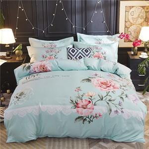 Neue Art und Weise und populärer Designer Explosion Modelle Cotton Home Textile Vier-teiliges Set Bettwäsche Kleine Frische und einfacher Baumwollbettbezug