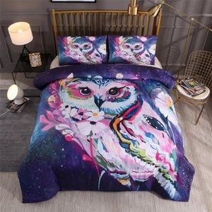 BEST.WENSDf01 Quality Super soft Unicorn Bedding Cartoon Duvet Cover set 3D Dinosaur World bed set 2 3pcs Twin kids bedding