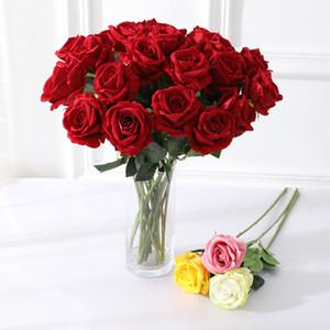 Rosa fiore artificiale Wedding Bouquet di simulazione falsificazione fiore della Rosa Bouquet artificiale fiore di seta del partito della casa della decorazione della Tabella DBC VT0535