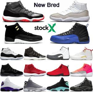 Lo nuevo de valores x 11 Bred 11s 12s zapatos de baloncesto de Jumpman inversas Taxi juego Royal 13s Lakers Rivals gris oscuro para hombre de la zapatilla de deporte Formadores