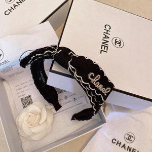 Diseñador de las mujeres de pelo Accessoreis Wholesell producto marcado de tela cruzada de pelo del nudo del aro de la venda de las vendas de Deportes precioso abrigo de pelo con la caja BB013