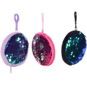 Moda Kadınlar Sequins Taşınabilir Anahtarlık Değişim Makyaj Çantası için Sevimli Yuvarlak Cüzdan Coin Bayanlar Kızlar için Çantalar F2587