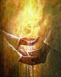 -.29-Framed & Unframed Yongsung Kim Jesus Christ Washing a Person's Feet Home Decor Handpainted &HD Print Oil Painting On Canvas Wall Art