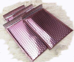 Or rose Bubble enveloppent métallisé Feuille d'or Rose Bubble Mailer pour l'emballage cadeau, sac Faveur de mariage gratuit Shipping1