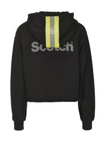 2019 printemps été nouvelle dames à manches longues noir lettres imprimer zipper veste haut court manteau à capuche M1516