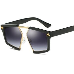 óculos de sol da moda 2020 descoloridos Polygon Sun vidro Mulheres armação de metal rua Vintage Lens sol Óculos Retro Outdoor Lentes De Sol Mujer