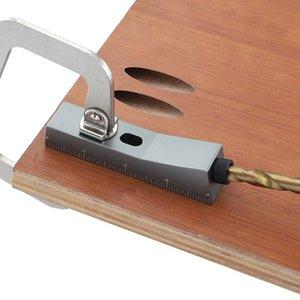 Guía de aleación de aluminio de pequeño agujero oblicuo Localizador Herramienta de la carpintería Taladro Magnético