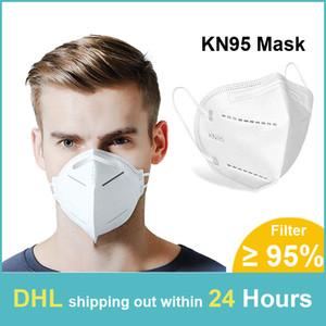 Masques KN95 KN95 Visage Masque 5 PM2,5 couche de particules KN95 Mask En stock DHL Livraison gratuite