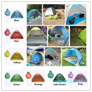 Wholesale- Easy Carry Tents Outdoor Camping Accessories for 2-3 People UV Protection Tent for Beach Travel Lawn 20 PCS  Lot Colorful Tent