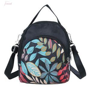 Fashion Printing Shoulder Messenger Handbags Casual Nylon Women Small Crossbody Top Handle Bags Bolsas Feminina Mujer Sac A Main