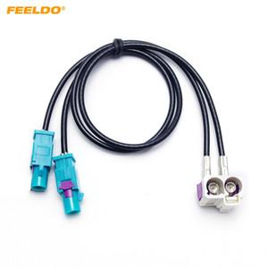 Adaptateur d'antenne radio FEELDO FAWRA2-B à 2Way FAKRA2-Z pour Volkswagen Jetta / Golf MK5 / MK6 / Passat B6 / B7 / Tiguan RNS510 / RCD510 / 310 # 3937