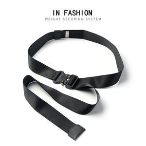 Yeni Tasarımcı Metal Toka Kemer Ins Aynı Endüstriyel Şerit Hip Hop Streetwear Bel Kemerleri Erkekler ve Kadınlar Kemerler