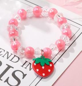 9 estilos de crianças Jóias acessórios coloridos Estrelas Pérola amor coração encantos pulseira Design Princesa pulseira crianças Presente bonito da jóia menina