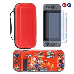 New for Nintend Switch Console DIY Plastic Decal Shell Cover Case Storage Carry Bag Temepered Glass Protectors for NS Switch