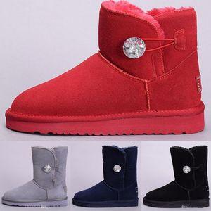 2019 venta caliente Australia Classic botas de nieve de Alta Calidad de las mujeres Botas de invierno de cuero real Bailey Bowknot de las mujeres bailey arco snow boo