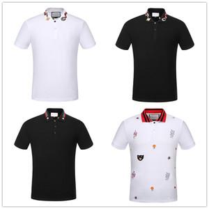 kutu logosu Yepyeni tarzı erkek polo gömlek Üst Timsah Nakış erkekler kısa kollu pamuklu gömlek Jerseys polos gömlek Sıcak Satış Erkekler giyim