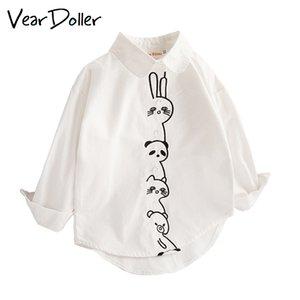 VearDoller meninas camiseta Primavera Outono manga comprida Tops Cute Padrão animal dos desenhos animados Infantil Roupa descontraída Baby Girl Blusa Y200704