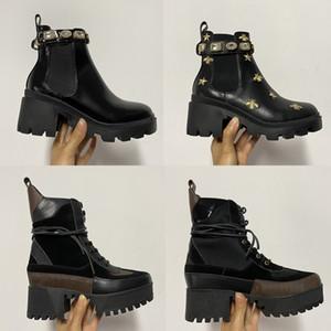Sıcak Satış Kadınlar Patik Dana derisi Avustralya Bilek Martin Boots Gerçek Deri Chunky Yüksek Arı Kovboy Çizmesi Parti Düğün Ayakkabı EU42 topuklu