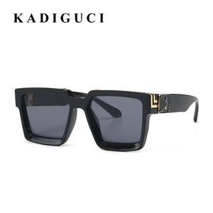KADIGUCI 새로운 여름 스타일 골드 도금 톱 안경 레트로 남성 선글라스 여성 UV400 태양 안경 광장 세련된 차양 K371