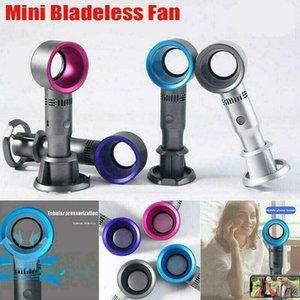 11 Styles Leafless Fan USB Rechargeable Portable Bladeless Fan Handheld Mini Cooler No Leaf Handy Fan ZZA2330 10Pcs