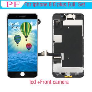 Grade A +++ LCD für iPhone 8 8 Plus OEM Display Full Set Digitizer Assembly 3D-Touch-Screen-Ersatz mit Frontkamera + Hörmuschel-Lautsprecher