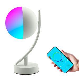 Wifi смарт настольной лампы RGBW 7W переключатель дроссельные таймера Alexa Google управление домом голоса LED настольный ночник разумная жизнь 10153
