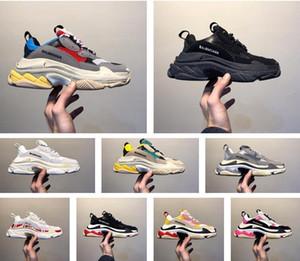 2020 baskets sac hommes Triple S zapatos scarpe chaussures balenciaga balanciaga Chaussures clair bullé Midsole Hommes Femmes shoes Vert Noir Blanc hombres track Sneakers
