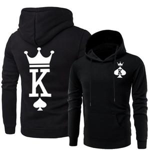 Paare Passende Kleidung Männer Frauen Königin König Hoodies Designer Hoodys
